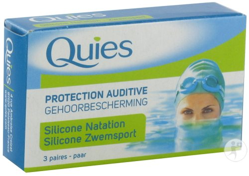 Quies Protection Auditive Maxi Silicone Natation Adulte 3 Paires