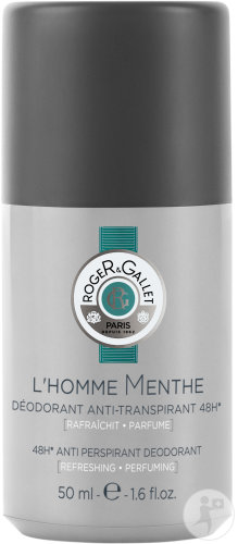 Roger&Gallet L'Homme Menthe Déodorant Anti-Transpirant 48h Roll-On 50ml