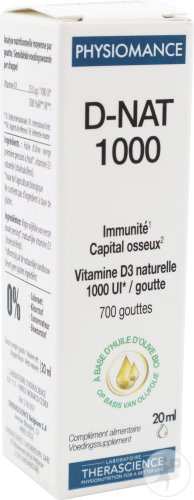 Therascience Physiomance D-Nat 1000 UI Flacon Compte-Goutte 20ml PHY269