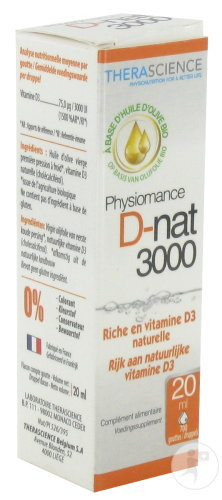 Therascience Physiomance D-nat 3000 Flacon Goutte 20ml Phy342