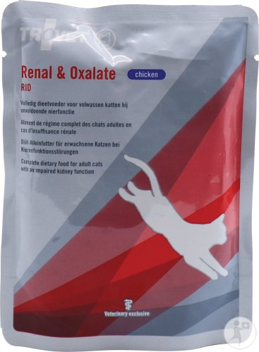 Trovet Renal&oxalate (poulet) Chat Pouch24x85g Vmd