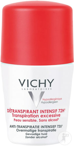 Vichy Détranspirant Intensif 72h Transpiration Excessive Roll-On 50ml