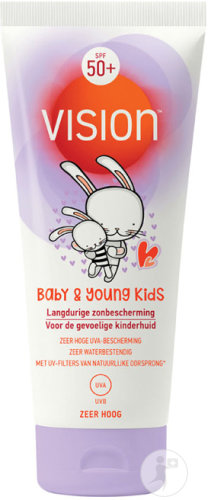 Vision Baby & Young Kids Protection Solaire IP50+ Peau Sensible Tube 50ml
