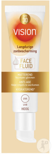 Vision Face Fluid Protection Solaire IP30 Anti-Âge Tube 50ml