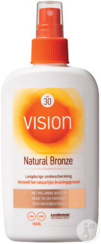 Vision Natural Bronze Protection Solaire IP30 Tube 185ml
