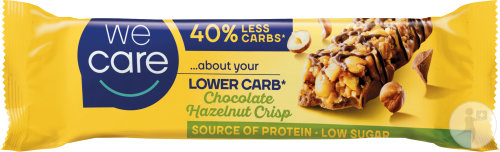 Weight Care Lower Carb Barre Chocolat Noisettes Crisp 37g