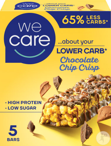 Weight Care Lower Carb Barres Chocolate Chip Crisp Pièces 5x30g