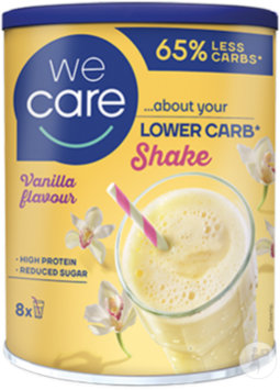 Weight Care Lower Carb Shake Saveur Vanille Pot 240g