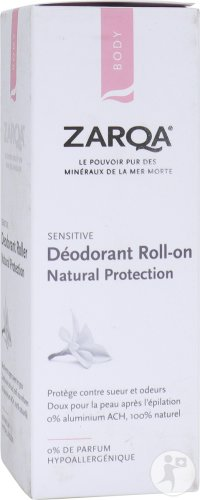 Zarqa Sensitive Déodorant Roll-On Natural Protection Peaux Sensibles 50ml