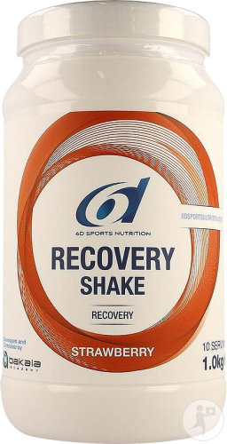 6d Sports Nutrition Recovery Shake Strawberry Pot 1kg Nieuwe Formule
