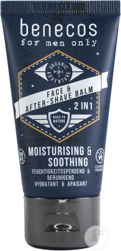 Benecos For Men Only Face & Aftershave Balm Tube 50ml