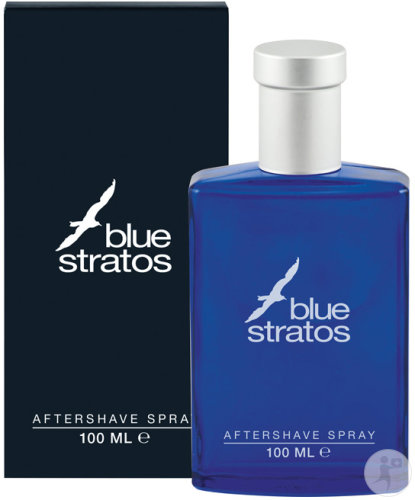 Blue Stratos Aftershave Spray Fles 100ml