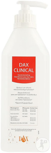 Dax Clinical Handontsmetting Pompfles 600ml