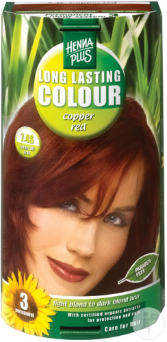 Hennaplus Long Lasting Colour 7.46 Copper Red 100ml
