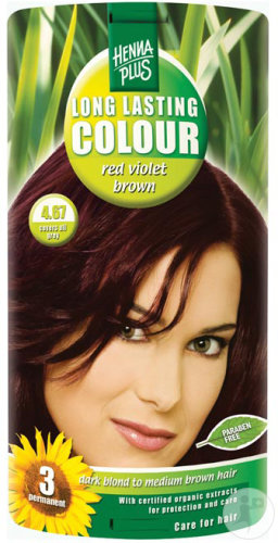 Hennaplus Long Lasting Colours 4.67 Red Violet Brown 100ml