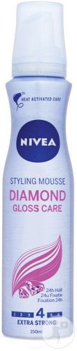 Nivea Diamond Gloss Care Styling Mousse Haarmousse Extra Strong 150ml