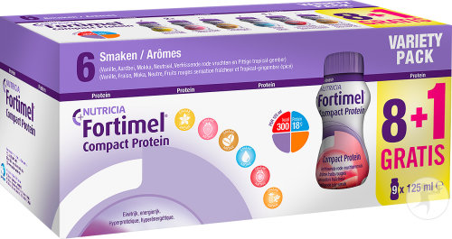 Nutricia Fortimel Compact Protein Variety Pack Promo Fles 8+1 Gratis