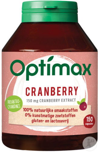 Optimax Cranberry Cysticare Slow Release 150 Capsules