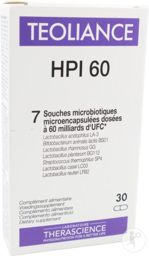 Physiomance Teoliance HPI 60 Voedingssupplement 30 Capsules (PHY248)