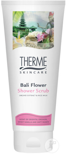 Therme Skincare Bali Flower Shower Scrub Orchid Extract En Rice Milk Tube 200ml