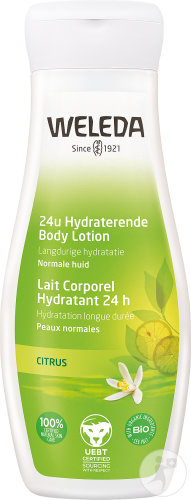 Weleda Citrus 24h Hydraterende Body Lotion Fles 200ml