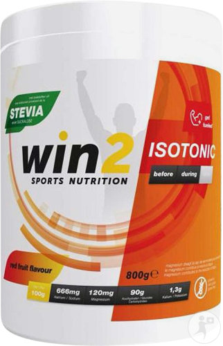 Win2 Isotonic Red Fruits Energie Poeder Pot 800g