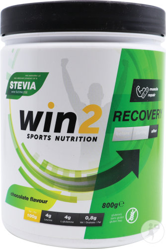 Win2 Recovery Chocolade Poeder Pot 800g