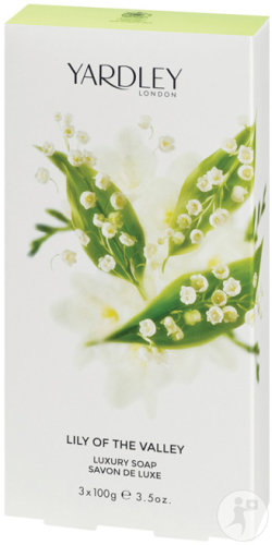 Yardley London Lily Of The Valley Zeep De Luxe 3x100g