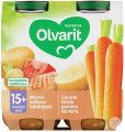 Olvarit Karotten-Truthahnpüree +15 Monaten Glasbecher 2x250g (5m00)