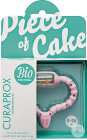 Curaprox CH Baby Piece Of Cake Beißring Rosa BioFunktional 0-24 Monate 1 Stück
