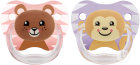 Dr Brown's Schnuller Phase 2 Rose 2-Pack Animal Faces