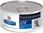 Hill's Pet Nutrition Prescription Diet Food Sensitivities Z/D Katze Dose 24x156g