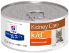 Hill's Pet Nutrition Prescription Diet Katze Kidney Care K/D Feingehackt Mit Huhn Dose 24x156g
