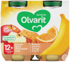 Olvarit Banane-Apfel-Orange-Keks +12 Monate Glasbecher 2x200g (12m51)