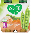 Olvarit Erbsen-Pute-Reis +18 Monate Glasbecher 2x250g (18m01)