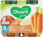 Olvarit Möhren-Huhn-Kartoffel Püree +8 Monate Glasbecher 2x200g (8m01)