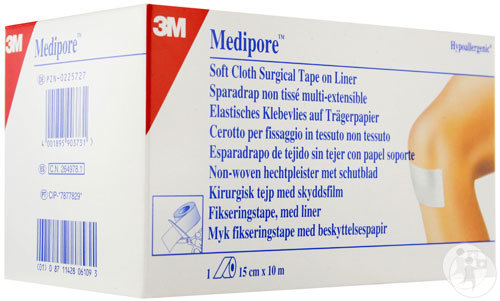 3M Medipore Hypoallergenes Fixationsvlies-Pflaster 15cm x 10m Rolle 1 (2991/3)