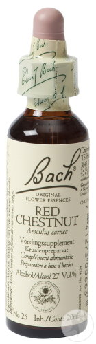 Bach Flower Heilmittel 25 Red Chestnut (Rote Kastanie) Flasche 20ml
