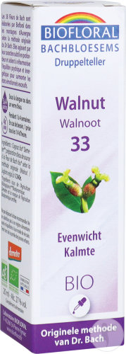 Bachbloesem 33 Walnut Walnoot Bio 20ml Demeter