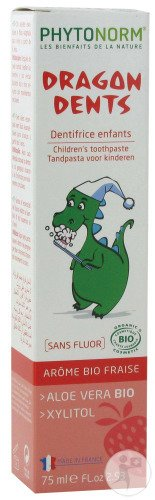 Be-Life Phytonorm Dragon Dents Erdbeere Kinderzahnpasta 75ml