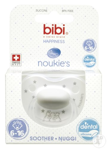 Bibi Happiness Dental Noukie's Schnuller Sternmotiv 6-16 Monate 1 Stück