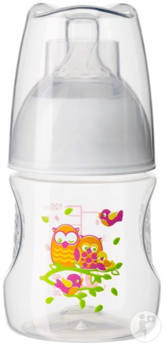 Bibi Happiness Natural All-In-1 Babyflasche Play With Us 0-2 Monate Stück 1x120ml