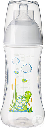 Bibi Happiness Natural All-In-1 Babyflasche Play With Us 0-2 Monate Stück 1x260ml