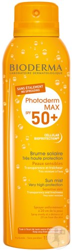 Bioderma Photoderm Max Brume SPF50+ Transparentes Aerosol-Spray 150ml