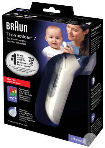 Braun Thermoscan 7 Ohrthermometer IRT6520 Age Precision 1 Set