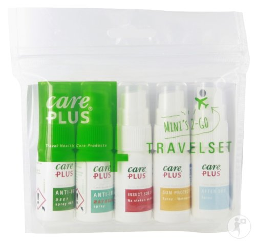 Care Plus Travelset Anti-Insect DEET + Anti-Insect Natural + Insect SOS + Sun Protection + After Sun