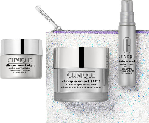 Clinique Box Smart Moisturizer Value Feuchtigkeitspflege 50ml + Creme 15ml + Repair Serum 10ml
