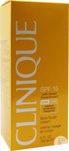 Clinique Sunscreen Face And Body Cream SPF15 150ml