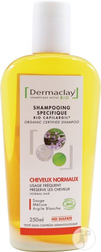 Dermaclay Organic Certified Shampoo Normal Hair 250ml