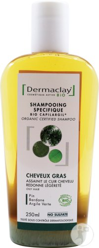 Dermaclay Organic Certified Shampoo Oily Hair 250ml